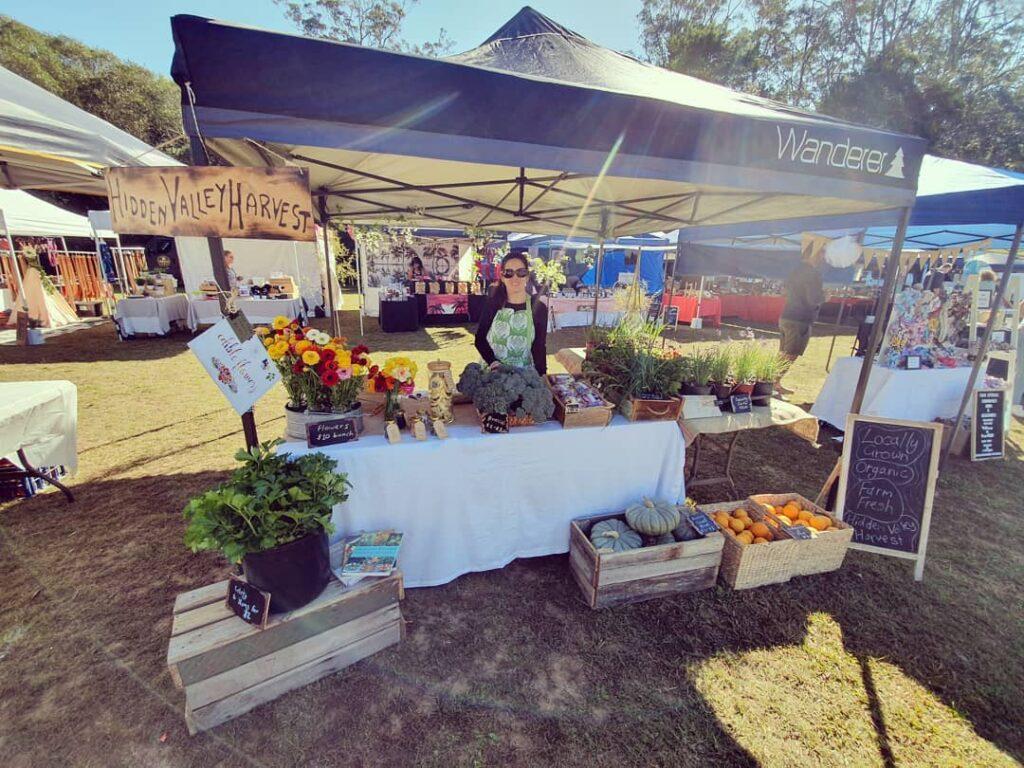 Suzie at her market stall