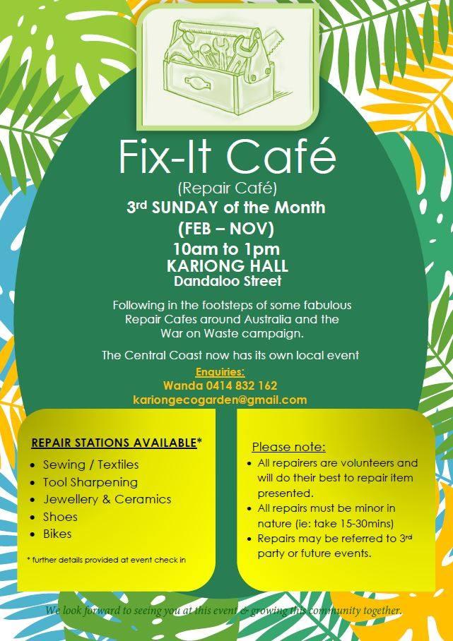 Kariong Repair Cafe flyer