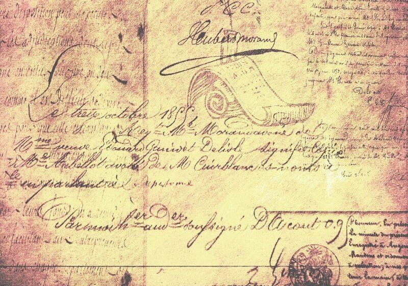 Old handwritten document