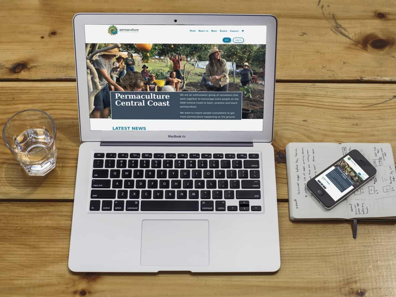 PCC website displayed on a laptop and a phone